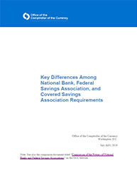 Key Differences Among National Bank, Federal Savings Association, and Covered Savings Association Requirements Cover Image