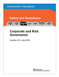 Comptroller's Handbook: Corporate and Risk Governance Cover Image
